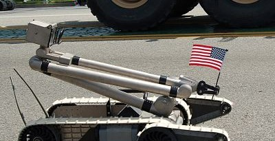 Unmanned IED Robot - US Flag